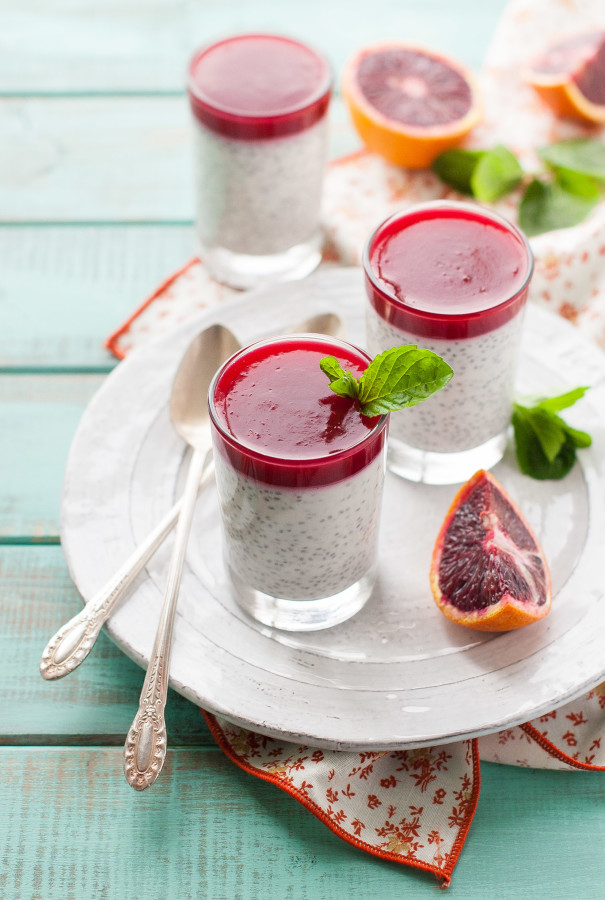Coconut Chia Pudding with Blood Orange Gelee | thekitchenmccabe.com