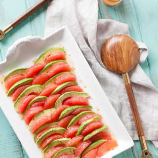 Grapefruit Avocado Salad w/ Mustard Honey Vinaigrette | thekitchenmccabe.com
