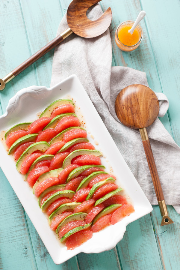 Grapefruit Avocado Salad w/ Mustard Honey Vinaigrette | thekitchenmccabe.com