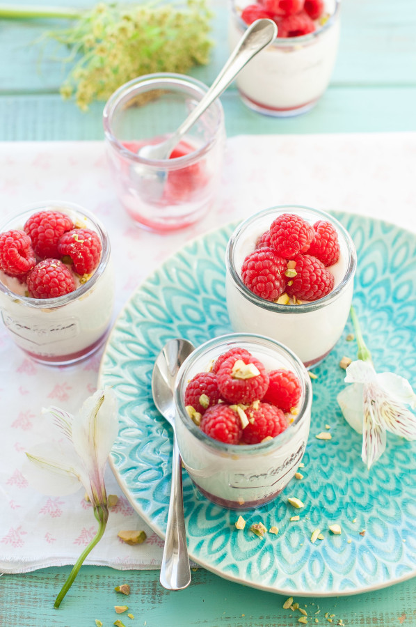 Meyer Lemon Panna Cotta with Raspberries | thekitchenmccabe.com