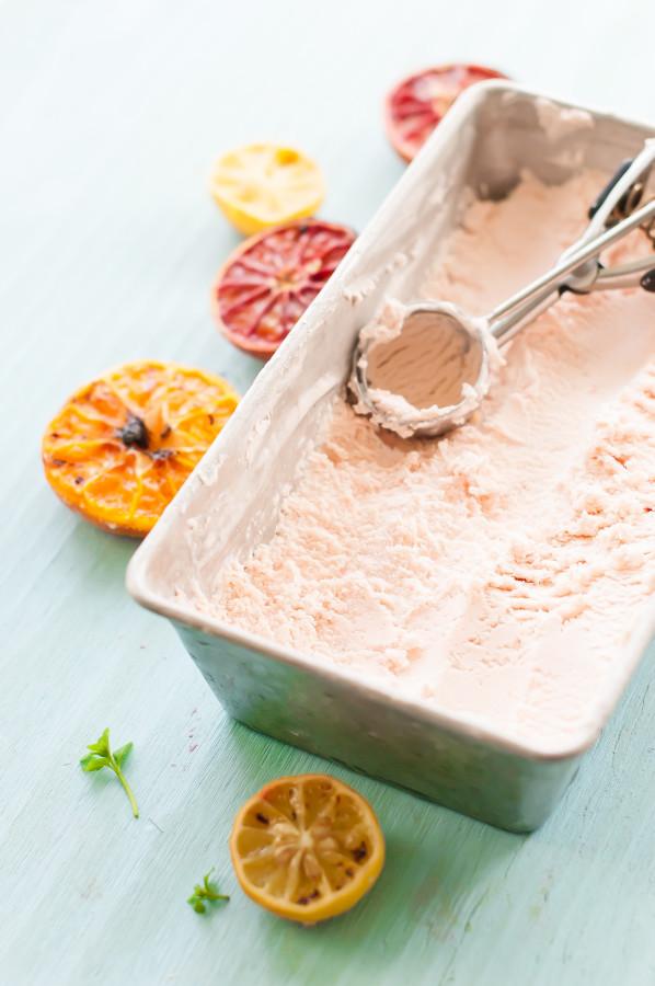 Broiled Citrus Vanilla Bean Ice Cream | thekitchenmccabe.com