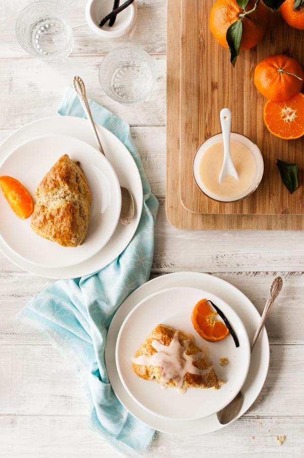Mandarin Vanilla Bean Scones | thekitchenmccabe.com