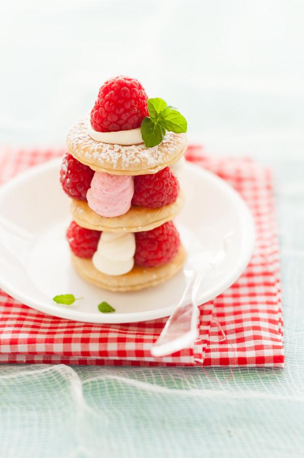 Raspberry & Mascarpone Mille Feuille | thekitchenmccabe.com