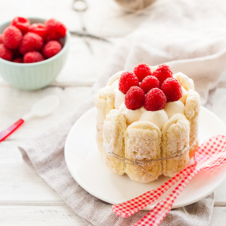 Raspberry Mousse Charlottes | thekitchenmccabe.com