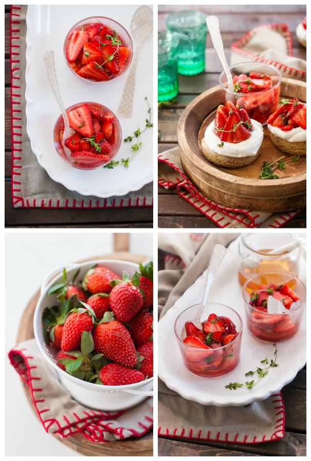 Whole Grain Shortcakes with Honey Thyme Strawberries | thekitchenmccabe.com