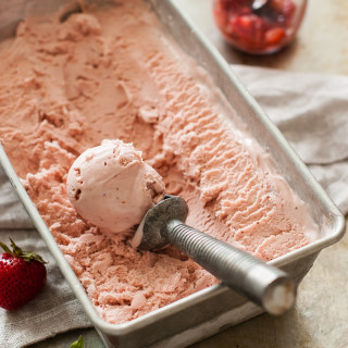 Balsamic Roasted Strawberry Mascarpone Ice Cream | thekitchenmccabe.com