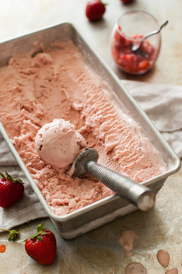 Balsamic Roasted Strawberry Mascarpone Ice Cream | thekitchenmccabe.com