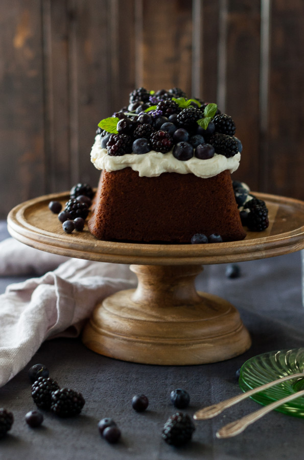 Blueberry Lavender Pound Cake With Lemon Mascarpone Cream The Kitchen Mccabe