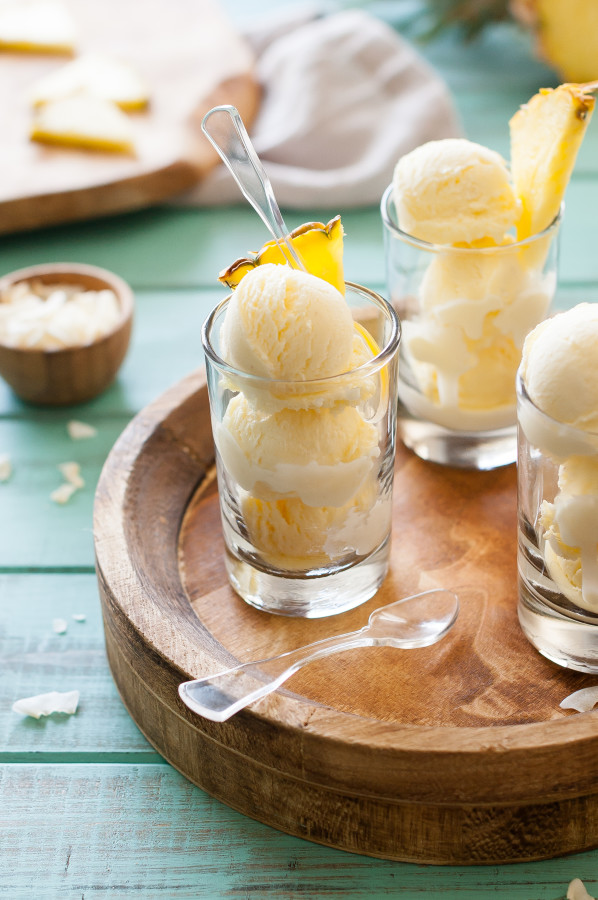 Fresh Pineapple Ice Cream | thekitchenmccabe.com