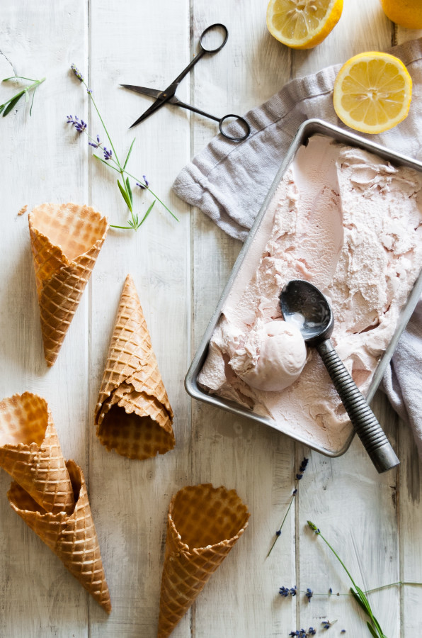 Lavender Lemon Ice Cream | thekitchenmccabe.com