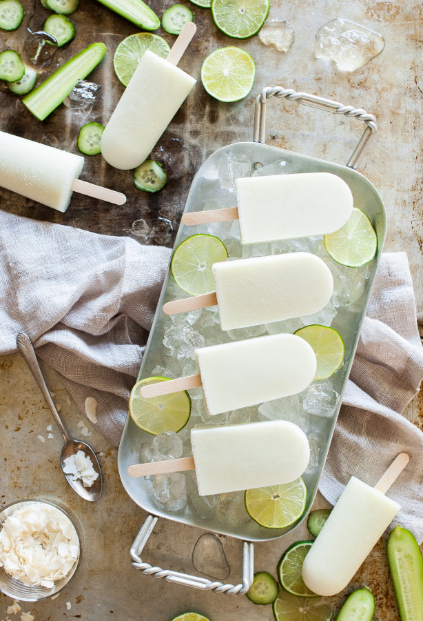 Cucumber Coconut Lime Popsicles