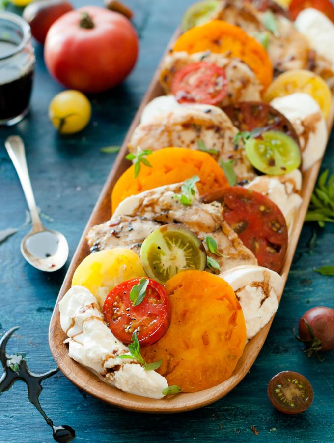 Grilled Chicken Caprese Salad