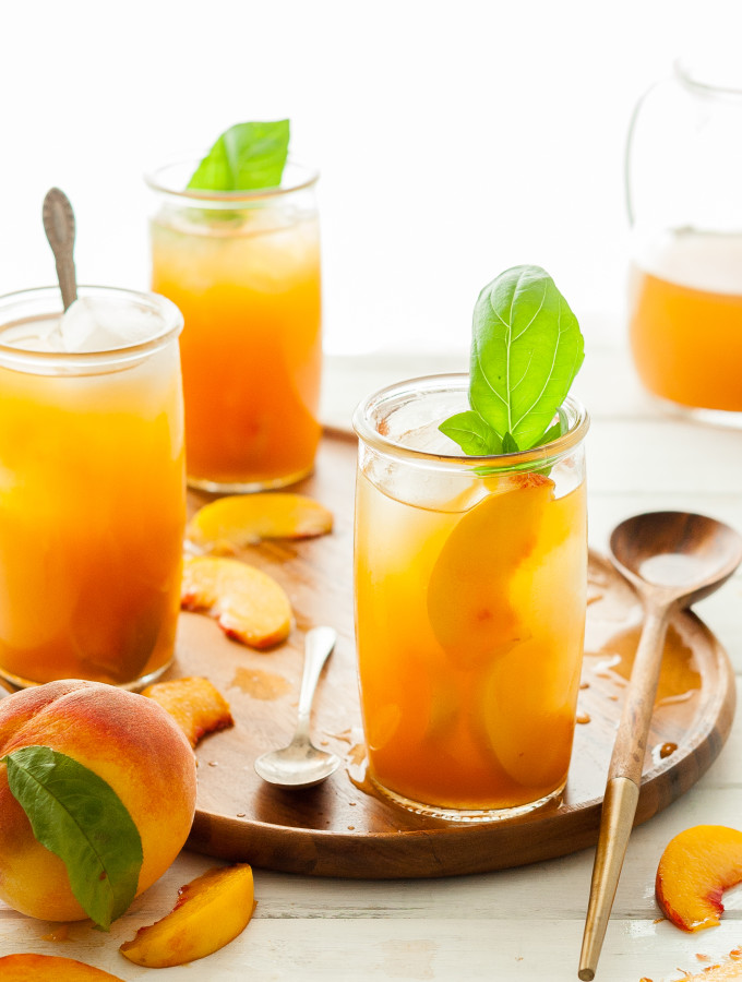 Immune-Boosting Peach Iced Tea