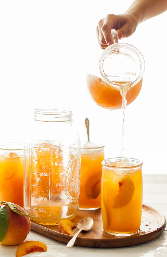 Immune-Boosting Peach Iced Tea