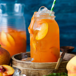 Peach Carrot Lemonade