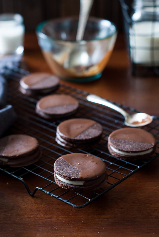 Raw Chocolate dipped Oreo Cookies (vegan-friendly, gluten free, refined sugar free, dairy free)