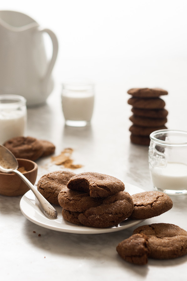 Chewy Molasses Cookies - gluten free, dairy free, no refined sugar, paleo friendly, clean eating