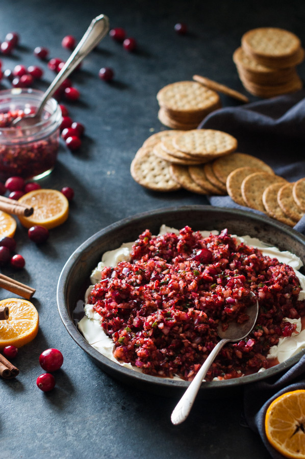Cranberry Orange Ginger Salsa & Whipped Goats Cheese
