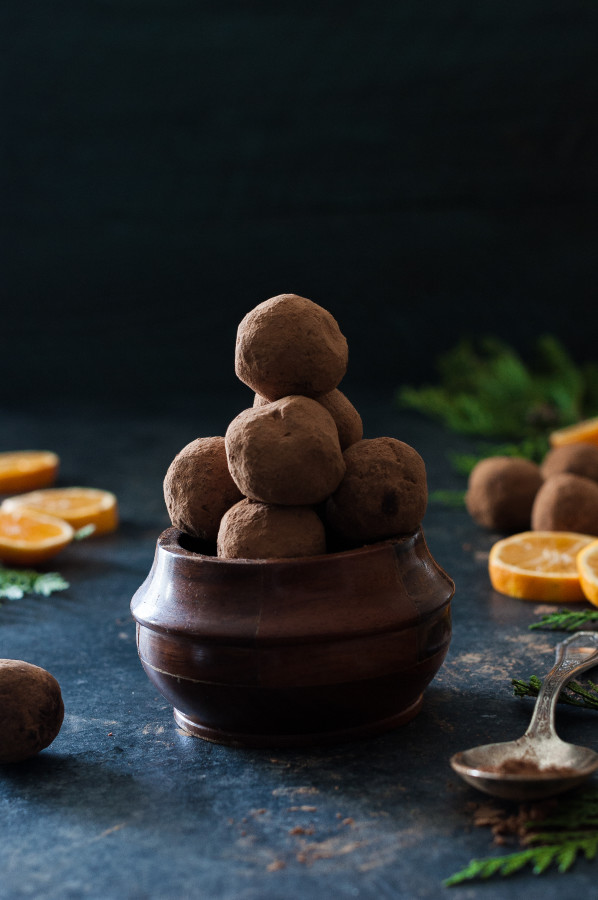 Fresh Orange Dark Chocolate Truffles 2