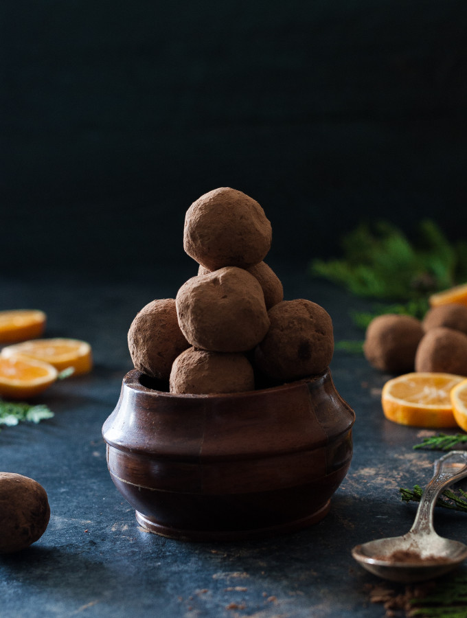 Fresh Orange & Dark Chocolate Truffles