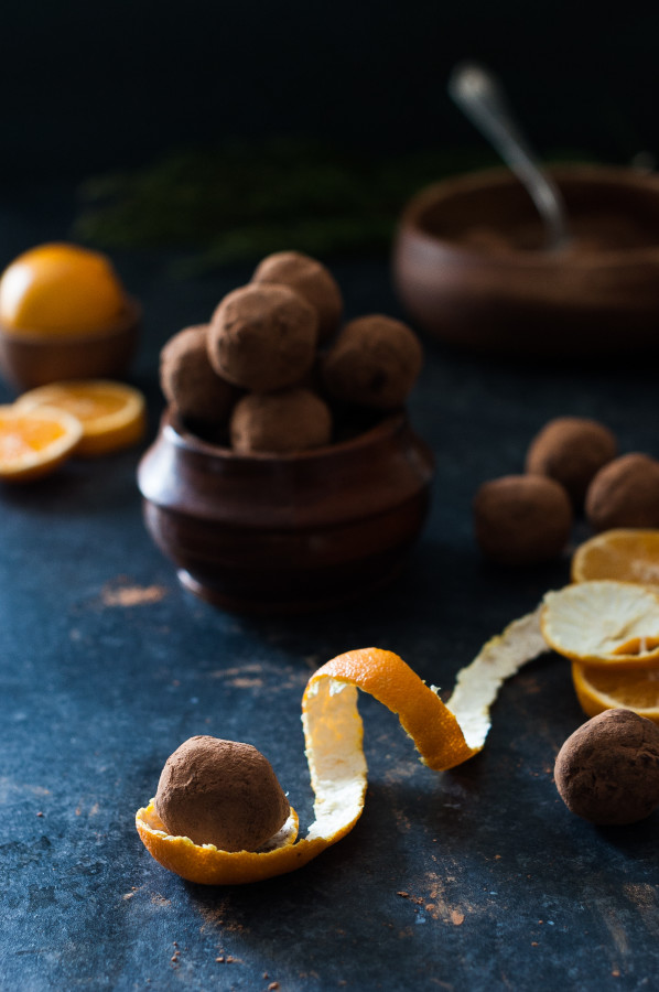 Fresh Orange & Dark Chocolate Truffles - dairy free, paleo, refined sugar free, clean eating