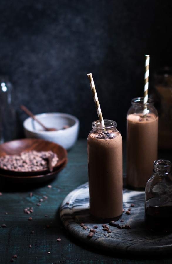 Toasted Coconut Chocolate Peanut Butter Banana Smoothie - The Kitchen ...