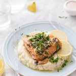 Herb Roasted Salmon & Celeric Yukon Mash