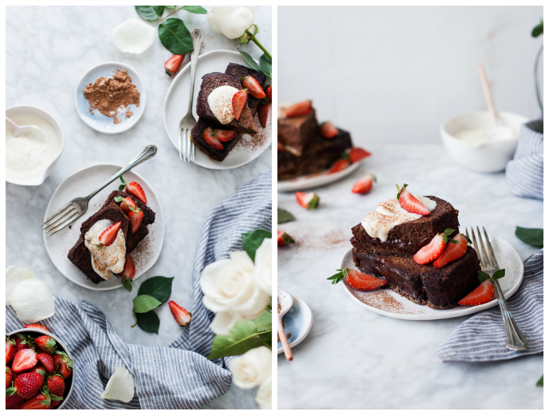 Stuffed Chocolate Banana Bread French Toast {gluten, dairy, refined sugar free}