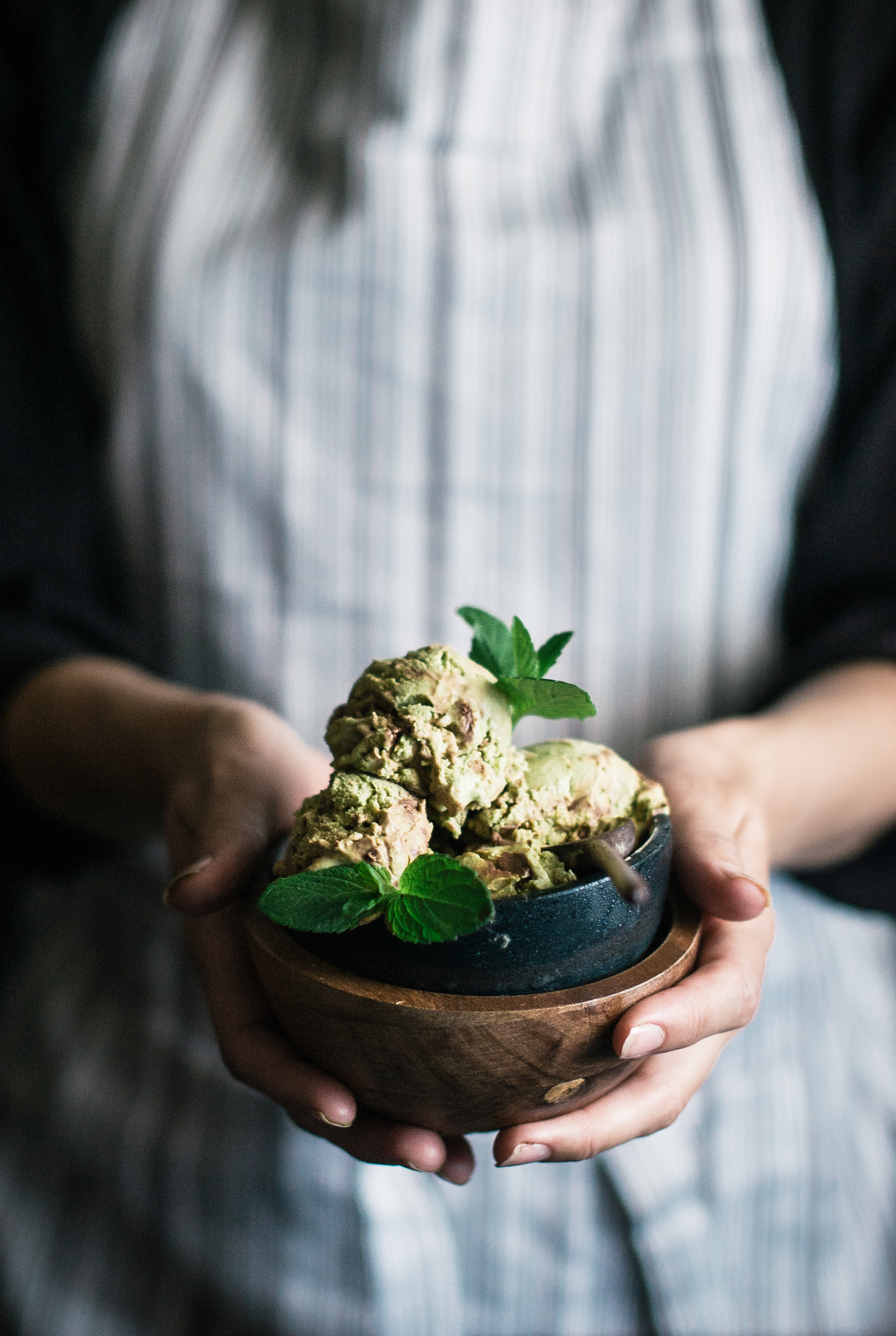 Matcha Avocado Mint Chocolate Mousse Swirl Ice Cream - The Kitchen ...