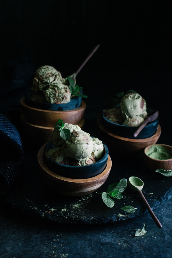 Matcha Avocado Mint Chocolate Mousse Swirl Ice Cream