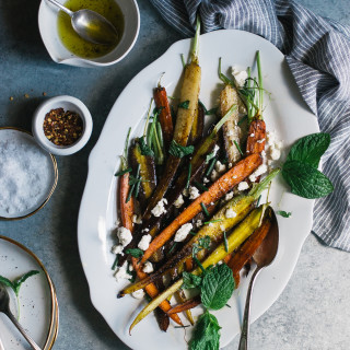 Sauteed Carrots with Feta, Mint, & Chives