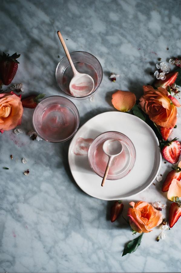 Strawberry Rose & Hibiscus Ice Cream