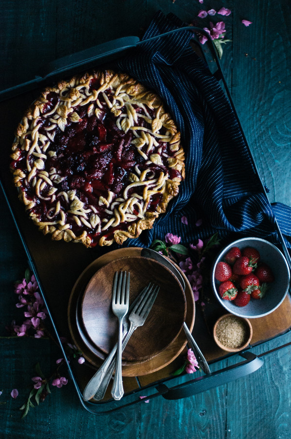 Triple Berry Pie with a Vanilla Bean Crust