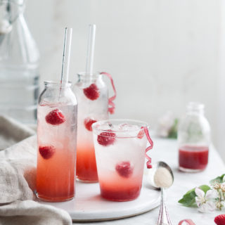 Raspberry Rhubarb & Rose Shrubs