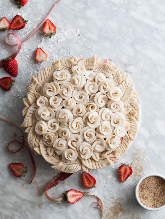 Rosy Rhubarb & Strawberry Pie