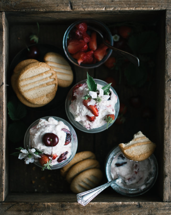 Cherry Berry Fool & Honey Lavender Shortbread Cookies