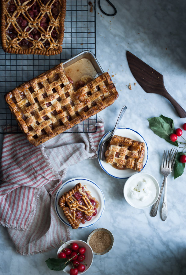 Cherry & White Balsamic Slab Pie