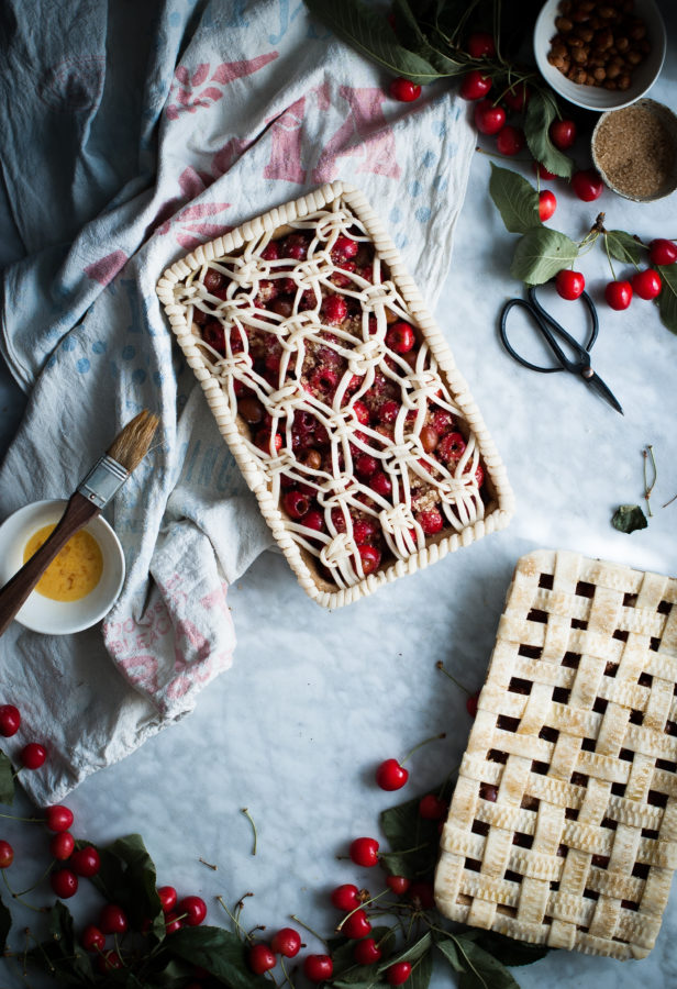 Cherry & White Balsamic Slab Pie