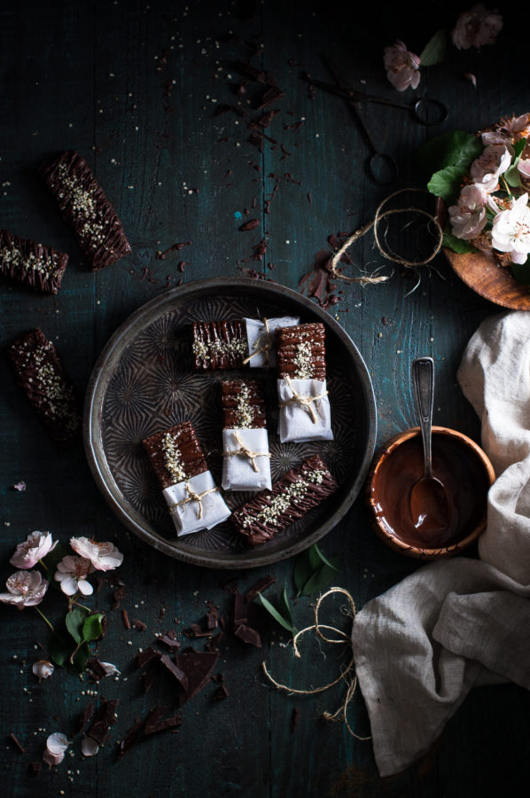 Chocolate Chia Hemp Heart Bars