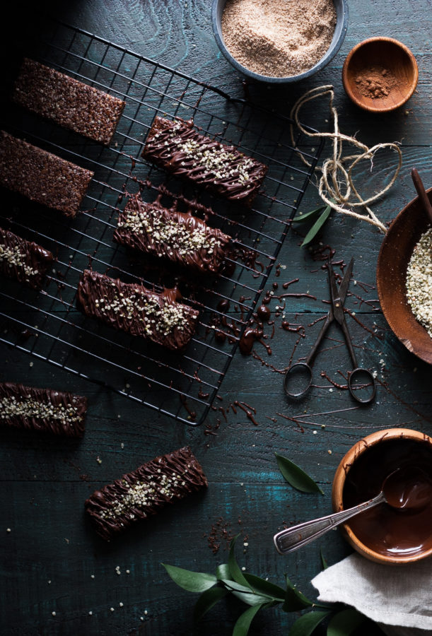 Chocolate Chia Hemp Heart Bars