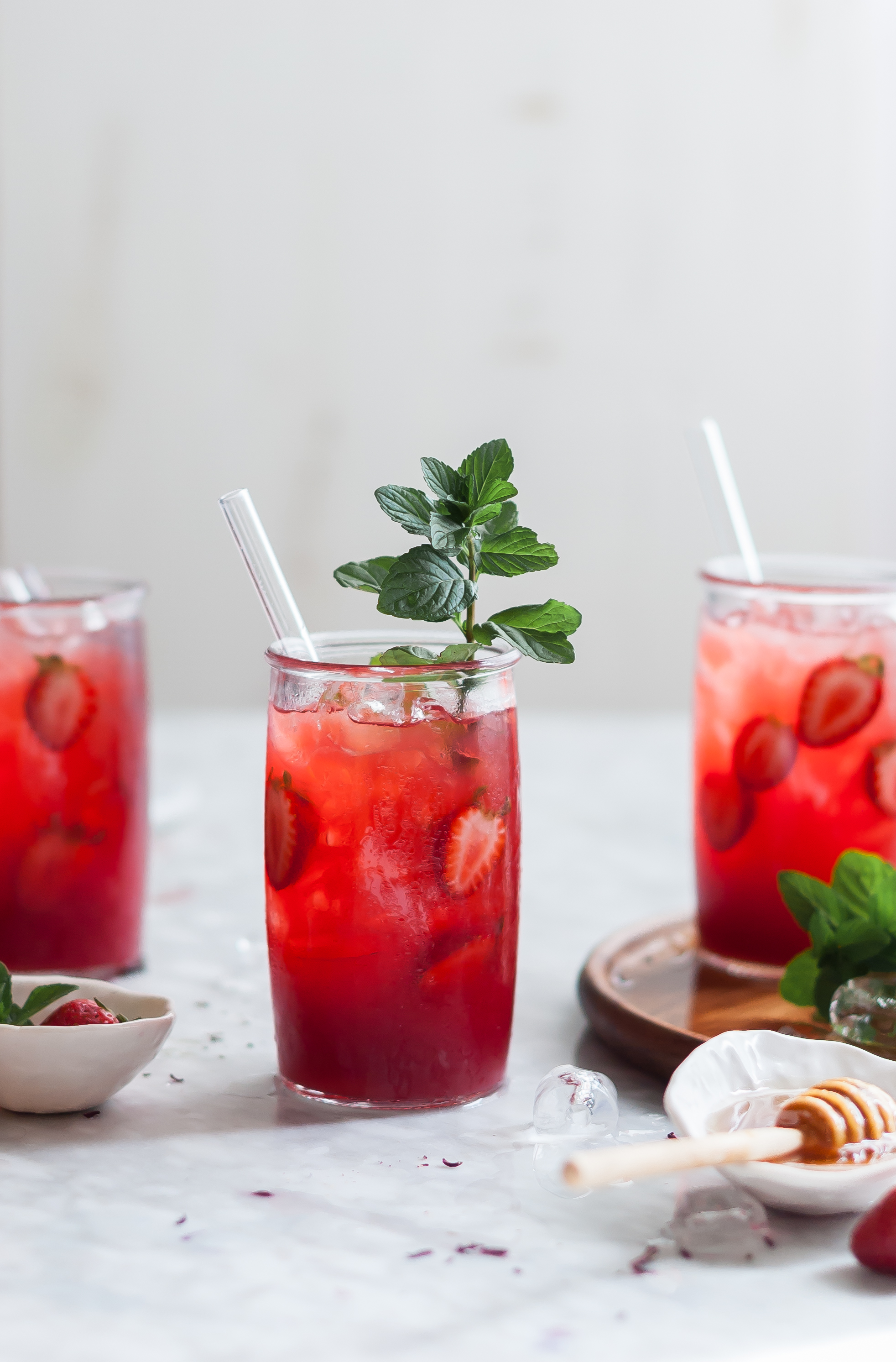 Minted Hibiscus And Raspberry Recipe — Dishmaps