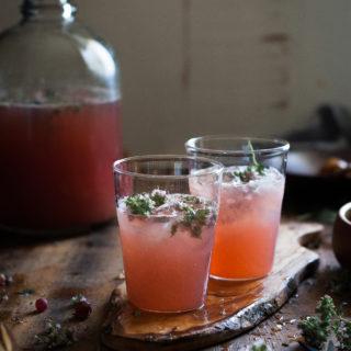 Honeyed Gooseberry + Marjoram Blossom Lemonade