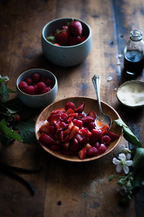 Mascarpone Ice Cream + Balsamic Berries