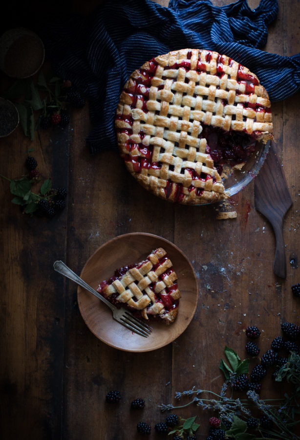 Blackberry, lemon & Lavender Pie