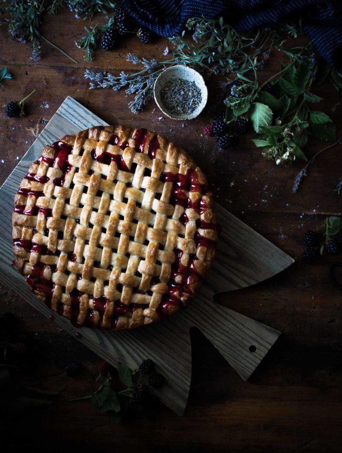 Blackberry, lemon & Lavender Pie