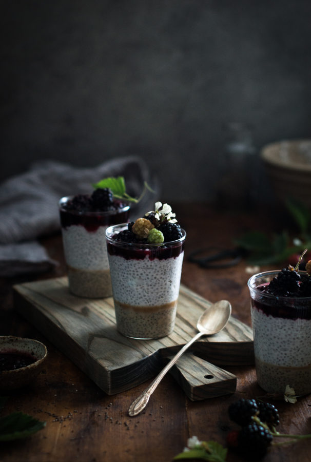 Coconut Chia Salted Caramel Puddings Smashed