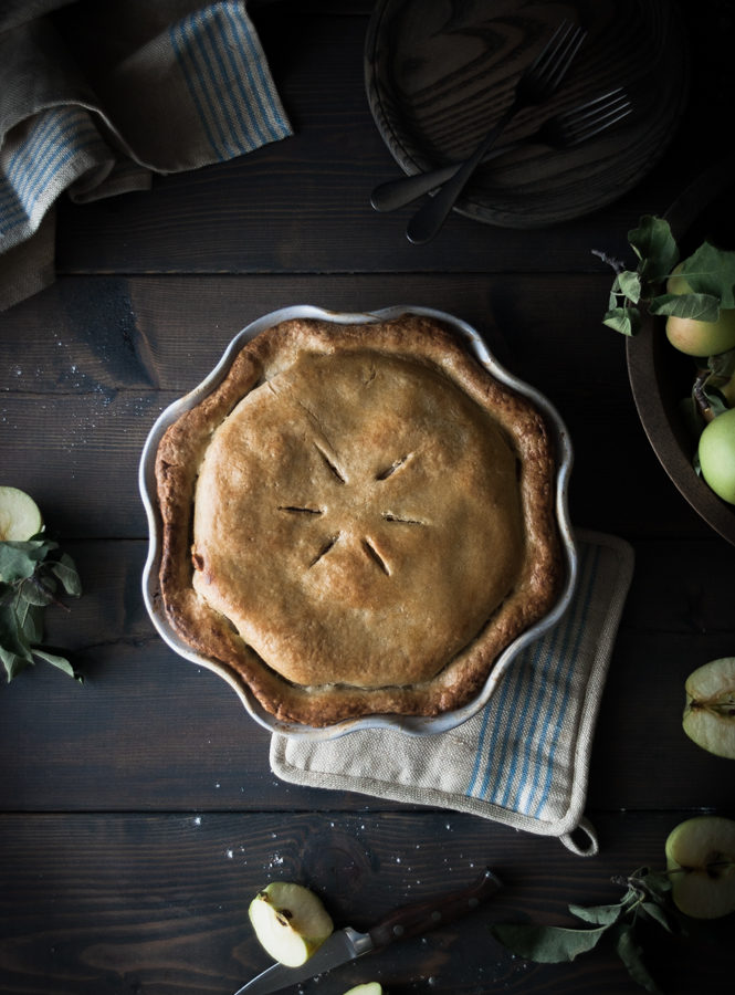 Sour Cream Custard + Cardamom Apple Pie