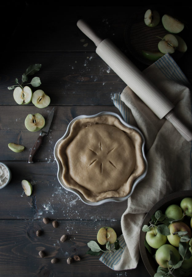 Deep Dish Custard + Cardamom Apple Pie