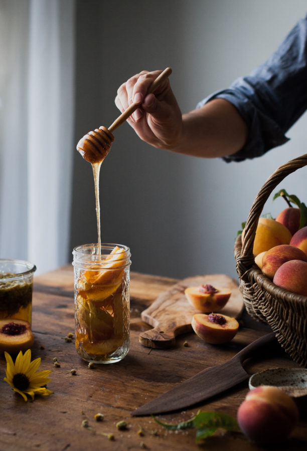 Peach + Chamomile Shrub
