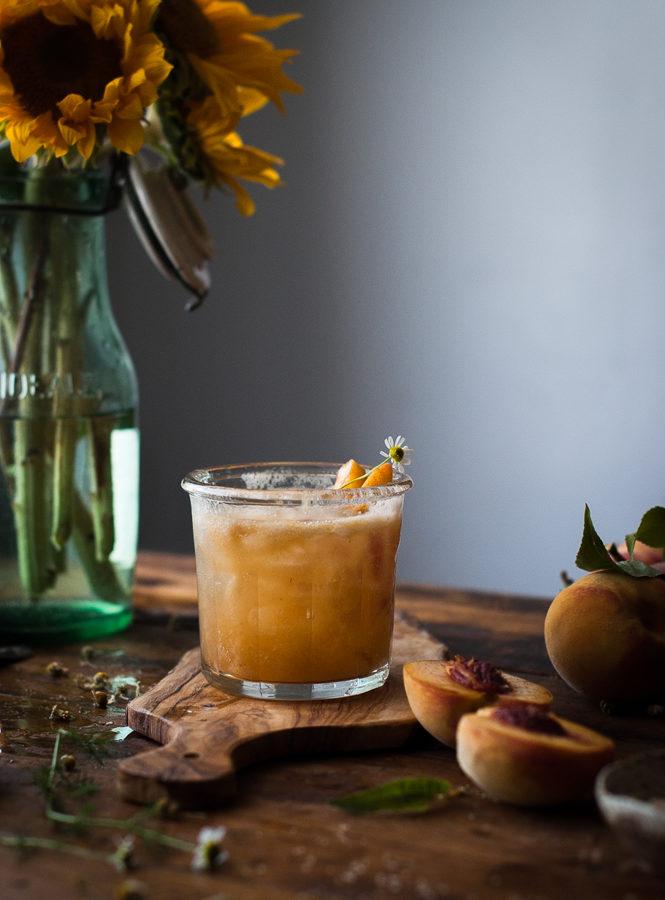 Peach + Chamomile Shrub